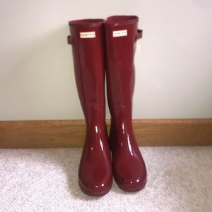 HUNTER Red Tall Rainboots